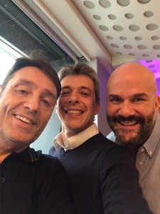 immagine dei partecipanti al talk show Radio 105 Friends